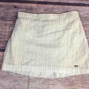 Hollister Skirt Xs Lace Crochet Off White Mini